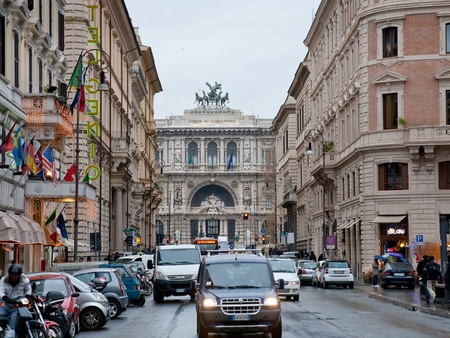 via: Via Giuseppe Zanardelli and Supreme Court of Cassation on December 19, 2010 in Rome, Italy