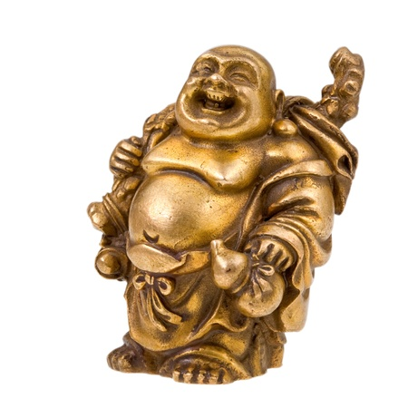 plenitude: statuette of Chinese god - Hotei Stock Photo