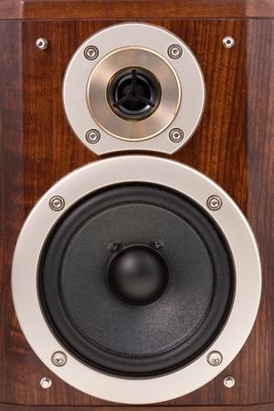 loudspeakers in wooden box photo