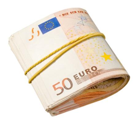 payola: 50-euro banknotes under rubber band