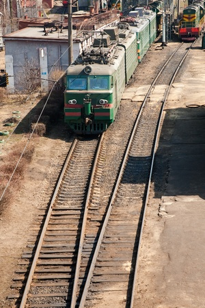 ral: MOSCOW - APRIL 24: electric train on passing on town ral station on April, 24 in Moscow