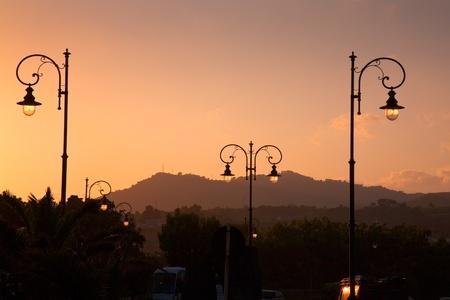 sunset in Giardini Naxos - seaside town in Sicily photo