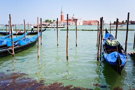 VENICE, ITALY - JUNE,23: view on San Giorgio Maggiore through San Marco Canal in Venice, Italy on June 23, 2011