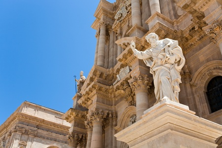Apostle statue in Cathedral in Syracuse, Sicily photo