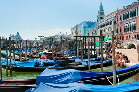 parking of gondolas near Piazza San Marco in Venice, Italy on June 23, 2011 Stock Photo - 10339885