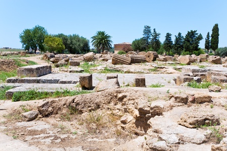 ruins of antique Greek Temple in Sicily Stock Photo - 10468329