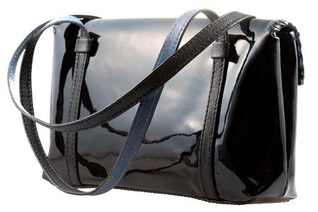pochette: black patent leather woman