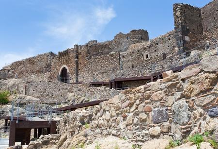 norman castle: Arab-Byzantine ancient castello Calatabiano, Sicily