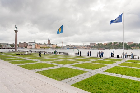 waterfront near Stockholm City Hall, Sweden on September 8, 2011