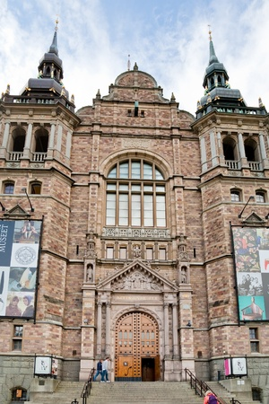 facade of Nordic Museum in Stockholm, Sweden on September 8, 2011 Stock Photo - 11025679