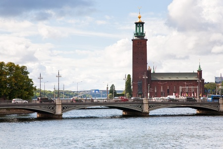 view on Stockholm City Hall on September 8, 2011, Sweden