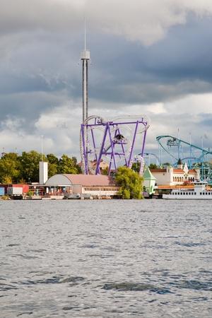 amusement park Tivoli Grona lund in Stockhokm, Sweden