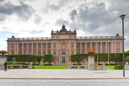view on The Riksdag building - swedish parliament, Stockholm, Sweden photo