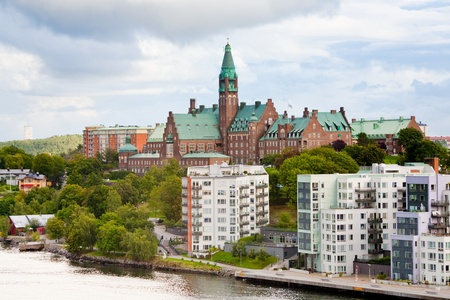 municipal houses and hospital in Stockholm, Sweden Stock Photo - 11390122