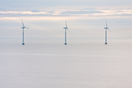 Middelgrunden - offshore wind farm near Copenhagen, Denmark at early morning Stock Photo - 11855641
