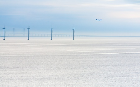 Middelgrunden - offshore wind farm near Copenhagen, Denmark at early morning Stock Photo - 11855645