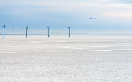 Middelgrunden - offshore wind farm near Copenhagen, Denmark at early morning Stock Photo - 11855645
