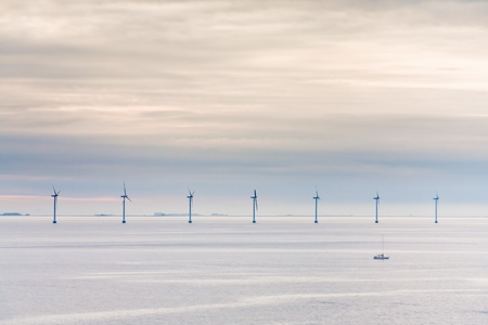 Middelgrunden - offshore wind farm near Copenhagen, Denmark at early morning Stock Photo - 11855628