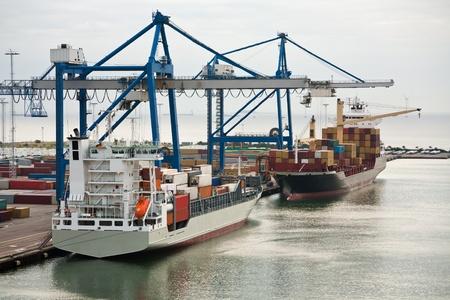 early morning in Copenhagen cargo seaport  Stock Photo - 11848567
