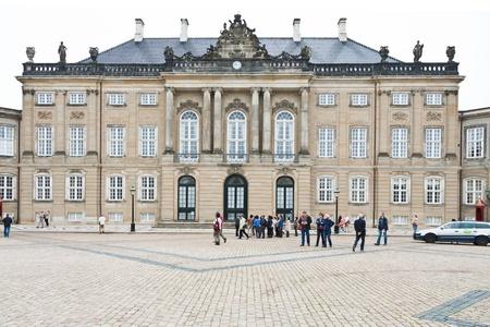 cuntry: COPENHAGEN - SEPTEMBER, 10: Christian VIII Palace was originally built by Frederik Levetzau in 1750-1760. It  was home of Crown Prince Frederik until 2011, in Copenhagen, Denmark on September 10, 2011