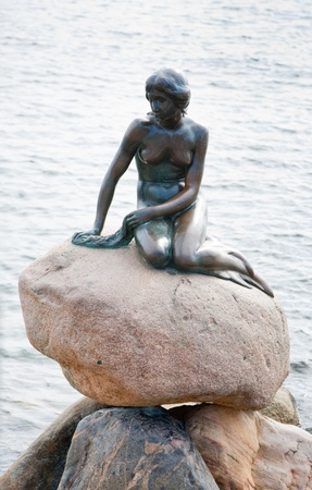 statue of the Little Mermaid in Copenhagen, Denmark