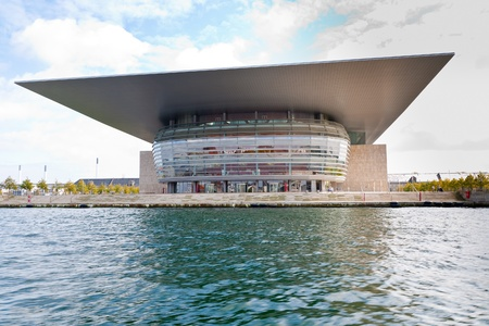 COPENHAGEN - SEPTEMBER, 10: Opera House. The Opera was donated to the Danish state by A.P. Moller (co-founder of company Mersk and Moller Foundation in August 2000)  in Copenhagen on September 10,2011
