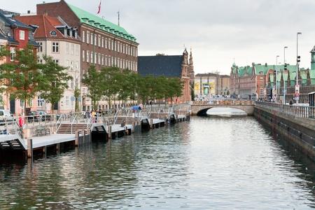 Frederiksholms Kanal and Holmens Bro in Copenhagen on September 10, 2011 Stock Photo - 11848601