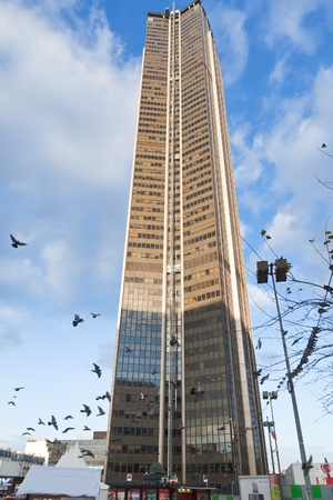 PARIS, FRANCE - DECEMBER,10: Tour Montparnasse. Constructed from 1969 to 1972, it was the tallest skyscraper in France until 2011 in Paris, France on December 10, 2011