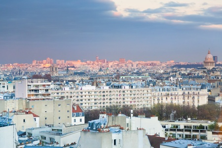 View over the 6th arrondissement Saint-Germain-des-Pres in Paris at evening Stock Photo - 11966927