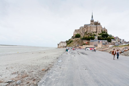 MONT SAINT-MICHEL, FRANCE - JULY 5: Mont Saint-Michel. Mont-Saint-Michel was used in 6-7th centuries as Armorican stronghold and monastic building was establised in 8th century, France on July 5, 2010