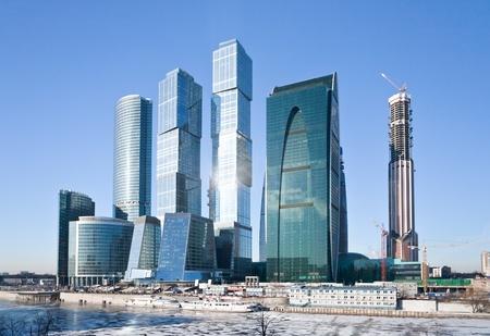 ver en los nuevos edificios la ciudad de Moscú en invierno Foto de archivo - 12415206