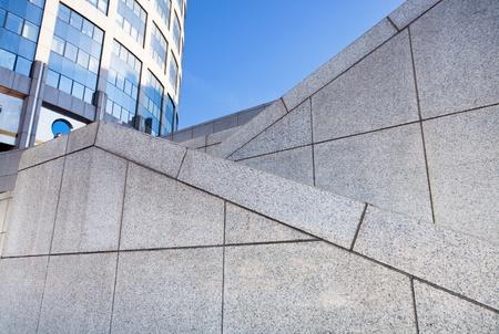 zigzags of outdoor granite stairways  photo