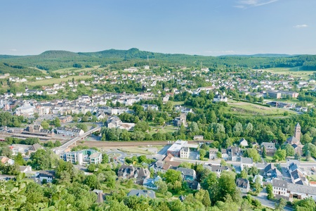 climatic: view on climatic spa town Gerolstein, Germany in summer day