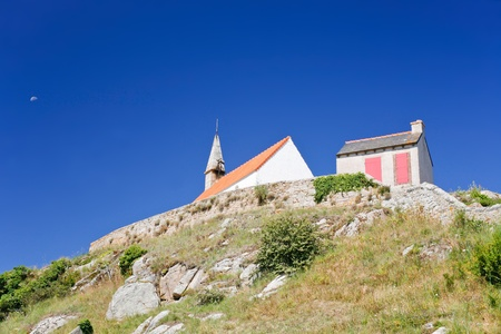 st michel:  Chapelle Saint Michel on Ile de Brehat island in Brittany, France