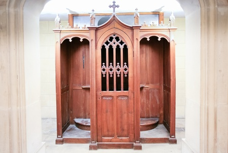pardon: new confessionary in rebuilded church