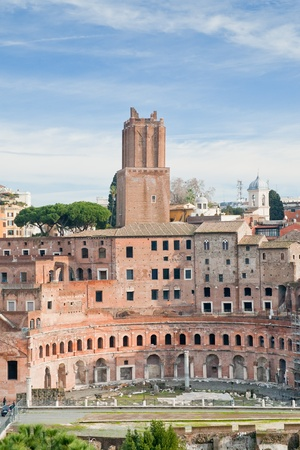 antique ruins of roman forum on Capitoline Hill in Rome, Italy photo