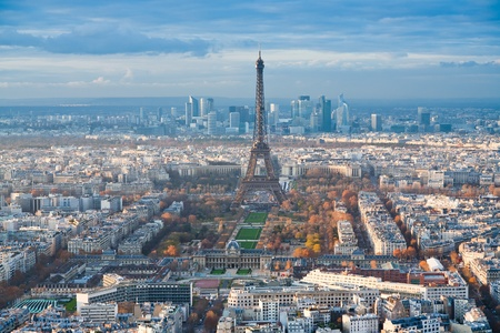 view on Eiffel Tower and panorama of Paris afternoon Stock Photo - 12818556