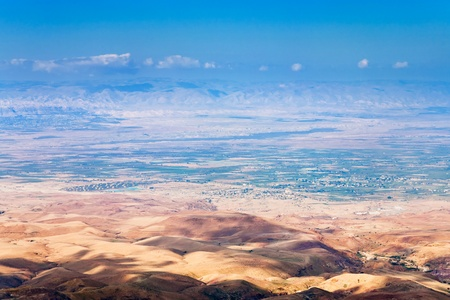 view of Promised Land from Mount Nebo in Jordan Stock Photo - 12828497