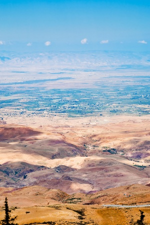view of Promised Land from Mount Nebo in Jordan photo