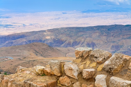 view of Promised Land from Mount Nebo in Jordan