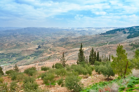 view of Promised Land from Mount Nebo in Jordan Stock Photo - 12828416