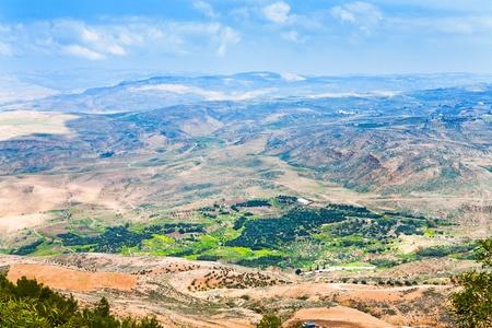 bekijken van Promised Land vanaf de berg Nebo in Jordanië