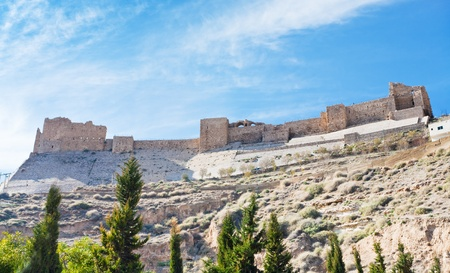 Kerak crusader castle in Kerak town, Jordan photo