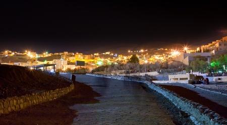 musa: night panorama of town Wadi Musa, the closest town to the Petra, Jordan   Editorial