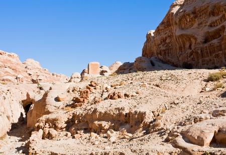 musa: dry riverbed of Wadi Musa in Siq, Petra, Jordan