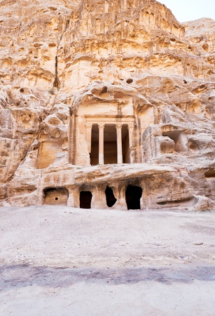 nabatean: antique Nabatean Temple in Little Petra, Jordan