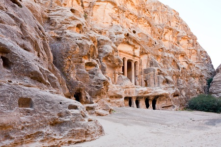 view of square in antique Little Petra, Jordan photo