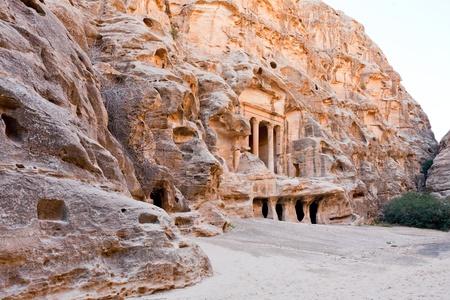 petra  jordan: view of square in antique Little Petra, Jordan