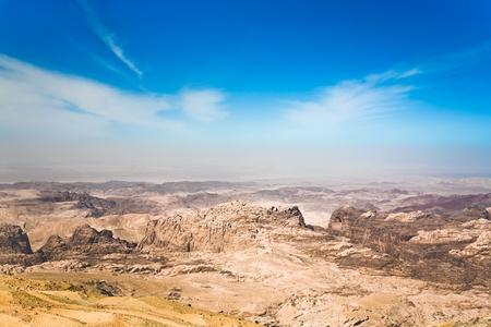est: mountain panorama of Jordan near Petra  Stock Photo