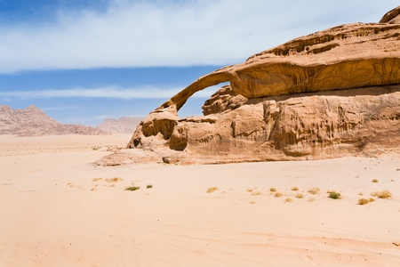 Bridge rock in Wadi Rum dessert, Jordan Stock Photo - 13221232